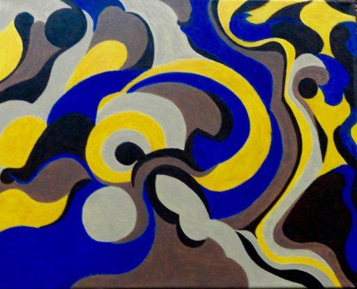 olieverf op een canvasdoek