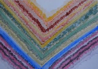 schildering op wit papier met Cotman