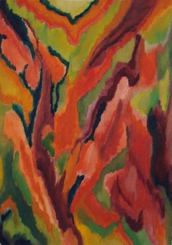 Kleurexpressie olieverf op papier no. 3