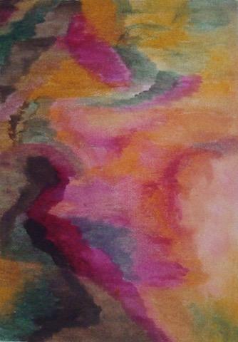 Kleurexpressie olieverf op papier no. 5