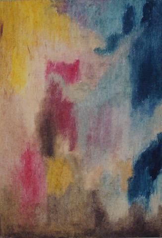 Kleurexpressie olieverf op papier no. 2