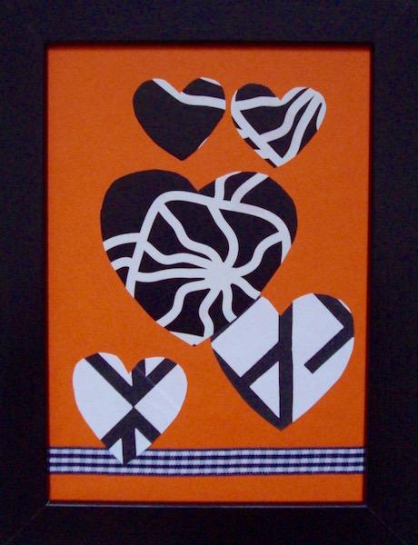 Zwart Wit Oranje serie van 7
